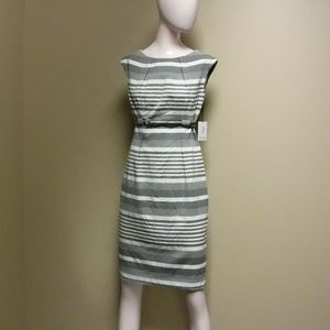 Women's Calvin Klein Gray/White Dress Size 4 NWT